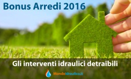 Bonus Arredi 2016 : interventi idraulici detraibili
